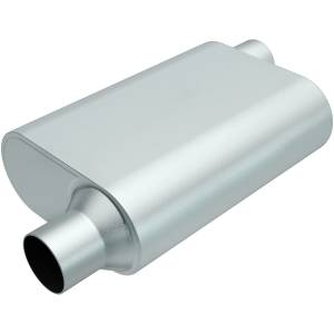 MAGNAFLOW PERF EXHAUST #R22543 Rumble Aluminized Muffler 2.5in Offset In/Out