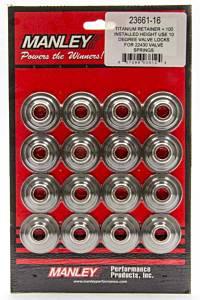 MANLEY #23553-16 L/W 10 Deg Titanium Retainers +.100