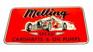 MELLING #1950 1950 Nostalgic Metal Sign - Red (Race Car)