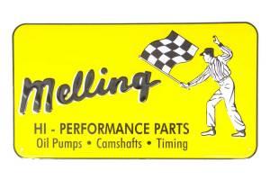MELLING #1960 1960 Nostalgic Metal Sign - Yellow (Flag Man)
