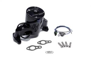 MEZIERE #WP101SHD SBC Billet HD Electric Water Pump - Black