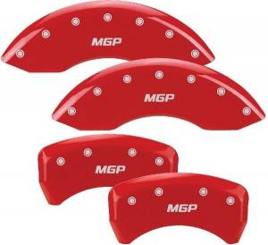 MGP CALIPER COVER #10197SMGPRD 05-10 Mustang Caliper Covers Red