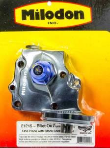 MILODON #21215 Billet Oil Pump Cover & Filter Boss - Wedge