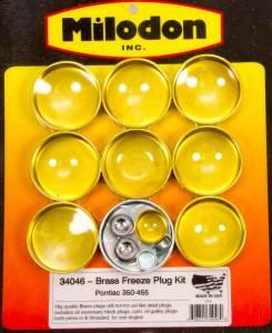 MILODON #34046 Pontiac V8 Brass Freeze Plug Kit