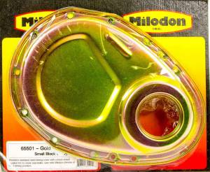 MILODON #65501 SBC Timing Cover - Gold
