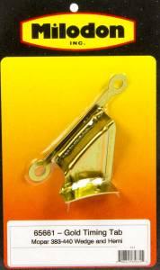 MILODON #65661 BBM Timing Tab - Gold