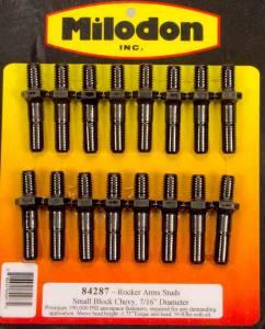 MILODON #84287 Rocker Arm Stud Kit - SBC 7/16in