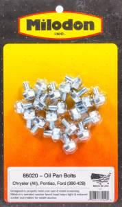 MILODON #85020 Oil Pan Bolt Kit BBM