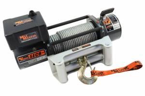 MILODON #77-50141W 8000lb Winch w/Roller Fairlead 12' Remote