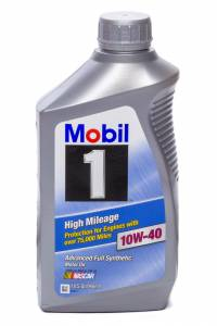 MOBIL 1 #MOB103536-1 10w40 High Mileage Oil 1 Qt