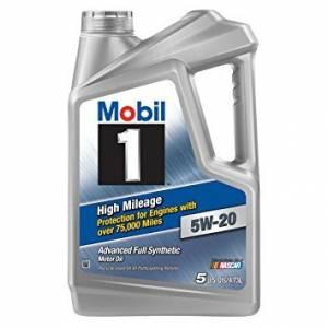 MOBIL 1 #MOB120768-1 5w20 High Mileage Oil 5 Qt Bottle