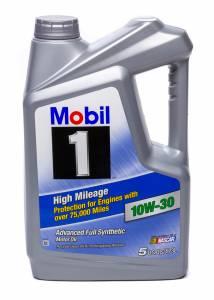 MOBIL 1 #MOB120770-1 10w30 High Mileage Oil 5 Qt Bottle