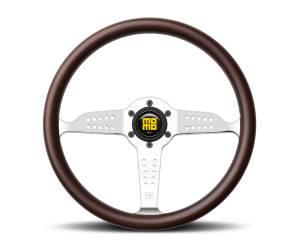 MOMO AUTOMOTIVE ACCESSORIES #GRA35WDOP Super Grand Prix Steerin g Wheel Wood/Pol. Silver