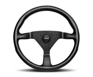 MOMO AUTOMOTIVE ACCESSORIES #MCL32AL1B Monte Carlo 320 Steering Wheel Leather Black