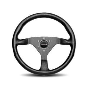 MOMO AUTOMOTIVE ACCESSORIES #MCL32BK1B Monte Carlo 320 Steering Leather Black Stitch