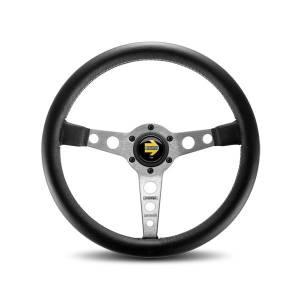 MOMO AUTOMOTIVE ACCESSORIES #PRO35BK0S Prototipo Steering Wheel Leather Silver Spoke