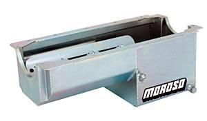 MOROSO #21019 SBC Steel Oil Pan - 7qt. For Dart/Rocket Block