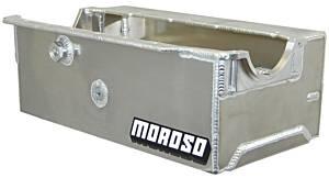 MOROSO #21330 SBC Sprint Car Alum. Oil Pan - Wet Sump 9.5qts.