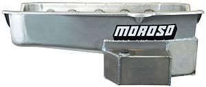 MOROSO #21815 SBC RR 7qt Oil Pan w/RH Dipstick 86-Up