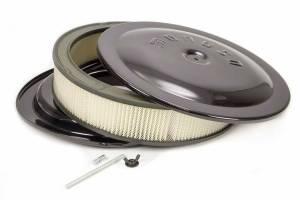 MOROSO #65912 14x3 Air Cleaner Kit w/Raised Bottom Black