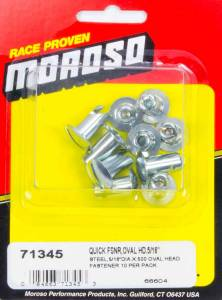 MOROSO #71345 Steel Quick Fasteners- Oval Head-5/16in x .5in