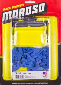 MOROSO #72130 SBF Spark Plug Wire Loom Kit - Blue