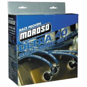 MOROSO #73833 Ultra 40 Spark Plug Wire Set Sleeved Black