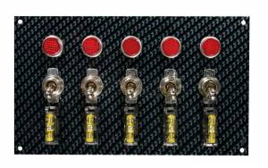 MOROSO #74148 Fiber Design Switch Panel - Black/Black