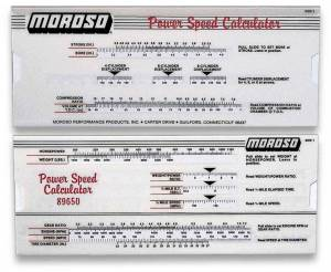 MOROSO #89650 Power/Speed Calculator