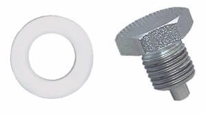 MOROSO #97001 Oil Pan Drain Plug - Clear Zinc