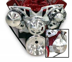 MARCH PERFORMANCE #21155 SBC Style Track Pulley Set w/Power Steering