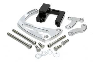 MARCH PERFORMANCE #23004 Chevy BB Power Steering Braket Polished