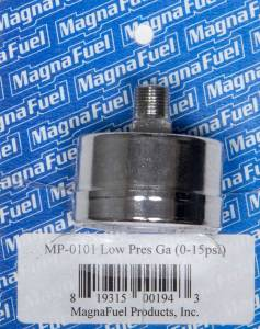 MAGNAFUEL/MAGNAFLOW FUEL SYSTEMS #MP-0101 Low Pressure Fuel Gauge 0-15psi