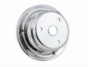 MR. GASKET #4976 Chrome Crank Pulley Single Groove
