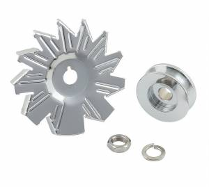 MR. GASKET #6808 Chrome Alt Fan & Pulley