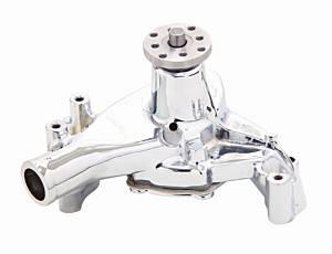 MR. GASKET #7012MRG SBC Long Water Pump Chrome