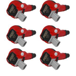 MSD IGNITION #82586 Coils 6pk Ford Eco-Boost 3.5L V6 10-13   Red