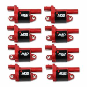 MSD IGNITION #82688 Coil Red Round GM V8 2014-Up 8pk