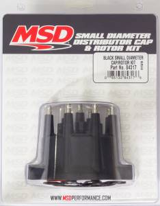 MSD IGNITION #84317 Distributor Cap & Rotor Kit Small Diameter Black