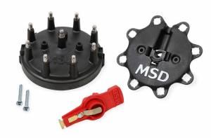 MSD IGNITION #84823 Cap & Rotor Kit - 85-95 Ford - Black