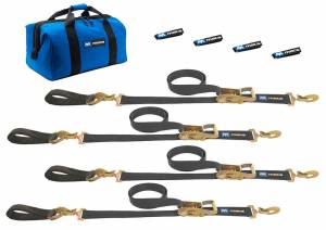 4 Tie Downs Direct Hook & 4-24in Axle Straps