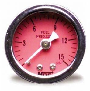 NITROUS OXIDE SYSTEMS #15900NOS 0-15 Fuel Pressure Gauge