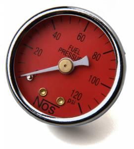 NITROUS OXIDE SYSTEMS #15906NOS 0-120 Fuel Pressure Gauge