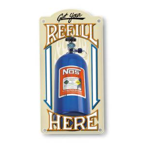 NITROUS OXIDE SYSTEMS #19326NOS NOS Refill Metal Sign