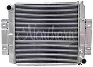 NORTHERN RADIATOR #205054 Aluminum Radiator Jeep 73-85 CJ w/V8 Conversion