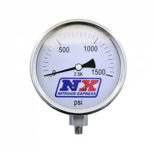 NITROUS EXPRESS #15540 Nitrous Pressure Gauge 4in Dia High Accuracy