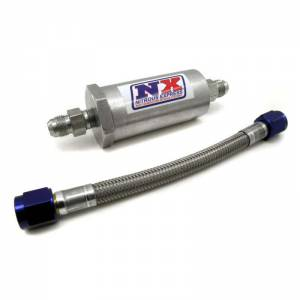 NITROUS EXPRESS #15607 D-4 Pure-Flo Filter & 7in. Stainless Hose