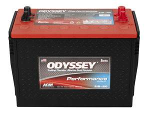 ODYSSEY BATTERY #31M-800* Battery 800CCA/1200CA SAE and 3/8 Pos 5/16 Neg