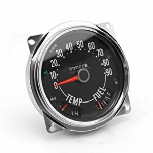 OMIX-ADA #17206.04 Speedometer Cluster Asse mbly  0-90 MPH; 55-75 Je