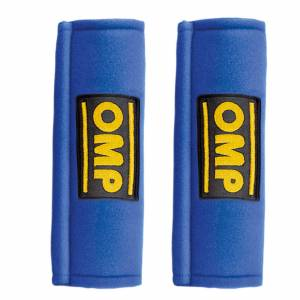 OMP RACING INC #DB450B Harness Pads Blue Used w/ 2in Belts